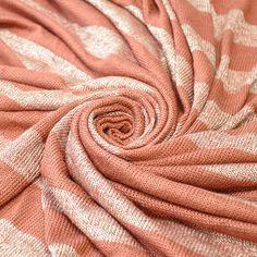 Striped 1 1/2 inch Rust Sweater Knit Fabric by by StylishFabric