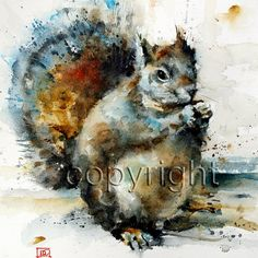 PEANUT giclee print from an original watercolor painting by Dean Crouser (original has been sold).  PEANUT, giclee print, signed & numbered by the