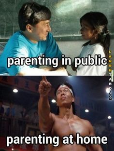 Parenting in public vs Parenting at home #laughtard #lmao #funnypics #funnypictures #humor  #jackiechan #boloyeung