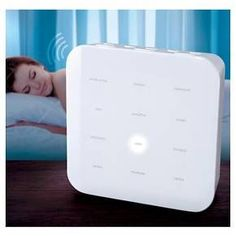 Never have trouble sleeping again with the Sharper Image Sound Soother! Rich, omni-directional sound specifically designed to help improve sleep and relaxation. Exclusive Sleep Enhancement Technology gradually slows playback speed of each sound program.  Includes 12 different sound selections: ocean, surf, thunder storm, serenity, unwind, white noise, rain, celestial, summer night, stream, meditate, focus, and rejuvenate. 30/60/90 minute auto shutoff. Gradually decreases volume duri...