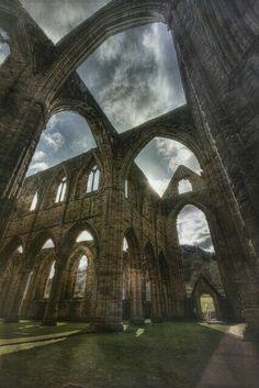 Scottish Abbey ruins.