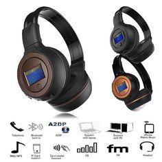 Wireless Bluetooth Stereo FM Radio Headset Headphones With Call Mic Headphone Running Headphones, Gaming Headphones, Beats Headphones, Headphone With Mic, Wireless Headset, Gaming Computer, Tv Videos