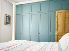 Built in Wardrobe. Fitted wardrobe. Bedroom. Storage. Victorian Terrace. Farrow & Ball. Oval Room Blue.  #myfabhome @farrowandball
