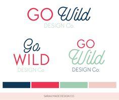 Go Wild Ready Made Logo | Sarah Made Design Co