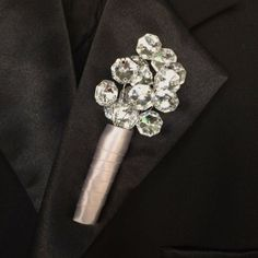 boutonniere Button Hole for Groom Groomsmen by TheCrystalFlower, $20.00