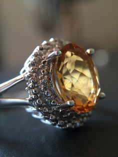 2.5ct ‪#‎citrine‬ #ring is a beaut. $50 and benefits women & children -Size 7
