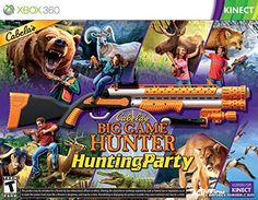 Cabela's Big Game Hunter with Shotgun Hunting Party for Xbox 360 and Xbox One Xbox 360 Video Games, Latest Video Games, Xbox One Games, Hunting Party, Video Game Collection, Xbox Console, Fishing Outfits, Big Game, Guns