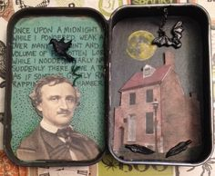 Edgar Allen Poe Altered Tin by PlumBatty on Etsy