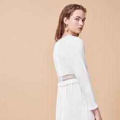 Maje RIAM dress; crêpe dress with openwork details