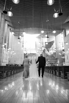 Ceremony at Cathedral of Our Lady of the Angels  Photography: Danny Baker for Epic Imagery Read More: http://www.insideweddings.com/weddings/a-great-gatsby-wedding-at-an-old-hollywood-landmark/598/