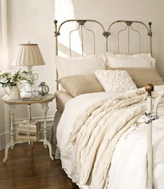 The headboard is a little antique for my taste, but the rest has promise!