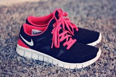 shoes nike sport blue pink white