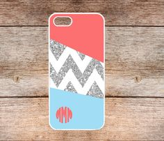 iphone 5 case  Blue chevron monogram IPhone 5s Case  by LiliSupply, $8.99