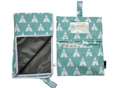 Teal Teepee Diaper Clutch & Changing Pad Baby Go by RilosAndMiMi
