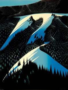 Eyvind Earle - Black Evergreen Forest