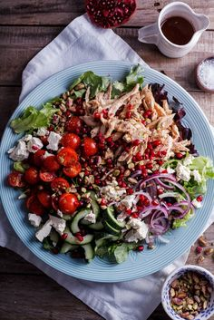 Leftover roast chicken is perfect in this aromatic and delicious Moroccan chicken salad. simply-delicious-food.com