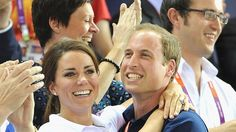 Catherine, Duchess of Cambridge and Prince William, Duke of Cambridge during Day 6 of the London 2012 Olympic Games at Velodrome