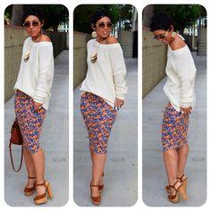 Ankara Pencil Skirt + Sweater !