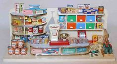 Kaufladen 1958 German Store, Toy 2, Doll Shop, Dollhouse Dolls, Old Toys, Mom And Dad, Vintage Toys, Childhood, Doll Houses