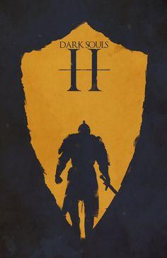 Dark Souls II Minimalist Poster - Created by Felix Tindall