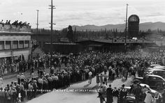 Crossing the Picket Lines at Red River Lumber Company ~ From the Eastman's Archive at UC Davis Kangaroo Court, Company Town, Red River, Vintage Pictures, Logs, Dolores Park, Archive, California, History