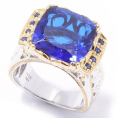 02 - Gems en Vogue II ''Ekaterina'' Brazilian-Cut Quartz Doublet Ring 118-002