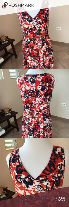 Colorful knee length dress! Very comfort dress. Look new. Perfect condition. Jones New York Dresses Mini