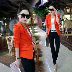 2017new Fashion autumn female blazer outerwear slim fromal plus size 6 colors OL long-sleeve suit jacket office ladies work wear