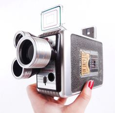 Vintage Kodak Brownie Turret Movie Camera - 1950s. Perfect to film your memorable holidays on the coast.