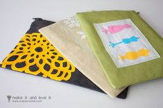Zippered Pouches personalized with Iron-On Vinyl | Make It and Love It