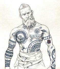 Baldur the stranger – Bastard 2 – – Norse Mythology-Vikings-Tat. Baldur the stranger – Bastard 2 – – Norse Mythology-Vikings-Tattoo, Viking Rune Tattoo, Norse Tattoo, Celtic Tattoos, Viking Tattoos, Maori Tattoos, Viking Art, Viking Runes, Body Art Tattoos, Sleeve Tattoos
