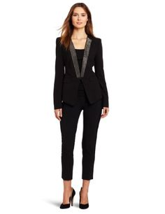 BCBGMAXAZRIA Women`s Whitley Woven City Jacket