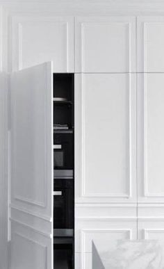 Image result for hidden cupboard doors with panelling