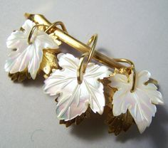 Vintage Gold Filled Carved Mother of Pearl by GretelsTreasures