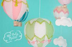 Cute 3D balloons using tiny corks as baskets (no pattern but great ideas).