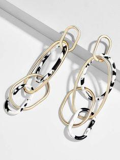 BaubleBar Juliza Resin Linked Hoop Earrings