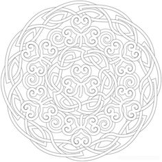 Shamrock Mandala, Mandala Picture to Color, Star Mandala coloring Pages… Mandala Coloring Pages, Coloring Book Pages, Printable Coloring Pages, Coloring Sheets, Celtic Mandala, Celtic Art, Celtic Circle, Celtic Knot Designs, Celtic Patterns