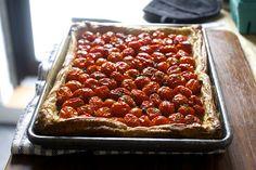 herbed tomato and roasted garlic tart | smittenkitchen.com