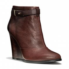 Coach :: MELODY BOOTIE - These booties are amazing and run TTS. I typically wear a 9, but a 9.5 in pointy pumps. I read reviews and ordered a 9 ... perfect fit!