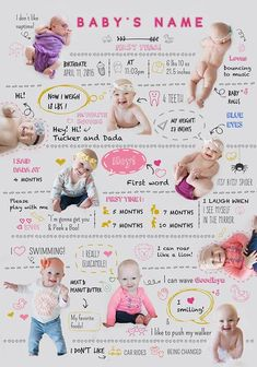 Before you even notice your baby will stop being this little cutie. Remember what he/she loves with this cute baby infographic! Children Photography, Newborn Photography, Baby Infographic, Baby Monat Für Monat, Newborn Schedule, Monthly Baby Photos, Foto Baby, Baby Shower, Shower Party