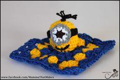Mamma That Makes: Minion Mini Snug Blanket - Free Crochet Pattern  Via Mamma That Makes  FB https://www.facebook.com/MammaThatMakes