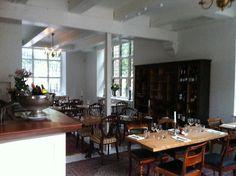 Restaurant Maven and wine bar in central Copenhagen. Outdoors seating during summer on historic Nikolaj Church square