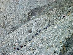 """Climbing to """"Pas des chèvres"""" Arolla Valais Suisse"""