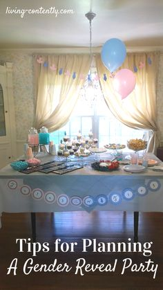 Tips for Planning a Gender Reveal Party Expecting a little one soon and want to plan an epic party to divulge the big gender secret? Check out these tips to help you plan and host a gender reveal! Twin Gender Reveal, Gender Reveal Games, Baby Gender Reveal Party, Gender Party, Gender Reveal For Twins Ideas, Budget Baby Shower, Baby Shower Desserts, Reveal Parties, New Baby Products