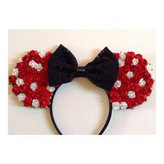 Floral Minnie inspired Mouse Ears by ShopHouseOfMouse on Etsy
