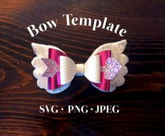 Valentine Wings and Arrow Bow Pattern: Digital File, SVG Bow Template, Valentine's Day Faux Leather Bow, Baby Glitter Bows, Girl Accessory Making Hair Bows, Diy Hair Bows, Handmade Hair Bows, Diy Leather Bows, Baby Glitter, Glitter Glue, Glitter Vinyl, Image Svg, Bow Image