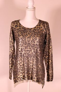 c0f5664e236c1 Alberto makali leopard pullover Sweater  fashion  clothing  shoes   accessories  womensclothing  sweaters (ebay link)