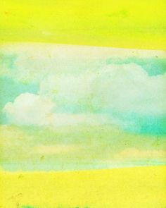 LOMO No. 14 // Modern Abstract Art Print Clouds Sky by LisaBarbero, $18.00