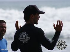 Our head surf instructor teaching clients all about ocean safety and awareness!  #surfcoach #surflessons #surf #costarica   sunsetsurfdominical.com
