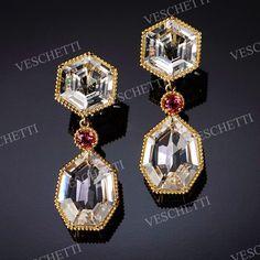 Crystal-rock earrings CRYSTAL WATERS
